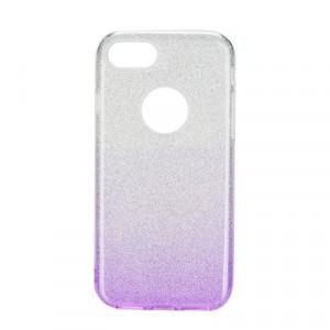 Силиконов гръб FORCELL Shining - iPhone 6 / 6s прозрачен-лилав