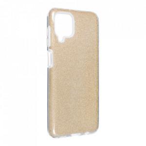 Силиконов гръб FORCELL Shining - Samsung Galaxy A12 златист