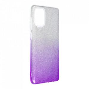 Силиконов гръб FORCELL Shining - Samsung Galaxy A72/A72 5G сребрист / лилав