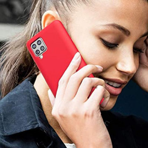 Силиконов гръб FORCELL Soft - Samsung Galaxy A12 червен
