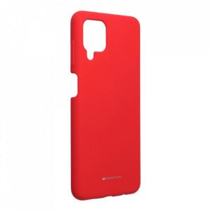 Силиконов гръб Mercury Silicone - Samsung Galaxy A12 червен