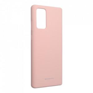 Силиконов гръб Mercury Silicone - Samsung Galaxy Note 20 розов