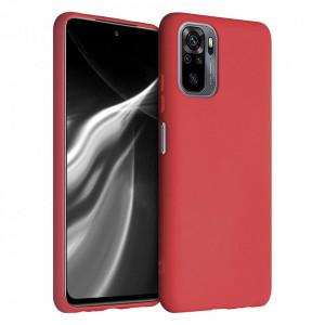 Силиконов гръб Soft Flexible Rubber - Xiaomi Redmi Note 10 4G / Redmi Note 10S червен