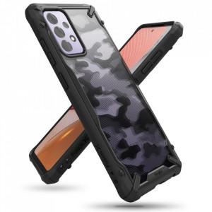 Твърд гръб Ringke Fusion X със силиконов бъмпер - Samsung Galaxy A72/A72 5G черен камуфлаж