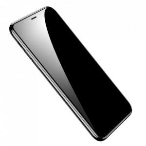 2 бр. Закален стъклен протектор с пълно покритие BASEUS 0.33mm + инструмент за поставяне - iPhone X / XS / 11 Pro черен