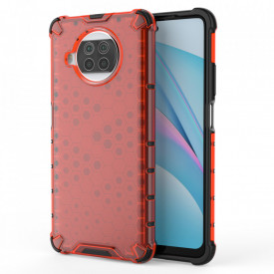 Гръб Honeycomb Armor със силиконов бъмпер - Xiaomi Mi 10T Lite 5G червен