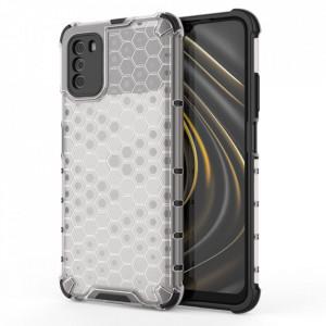 Гръб Honeycomb Armor със силиконов бъмпер - Xiaomi Poco M3 / Xiaomi Redmi 9T прозрачен