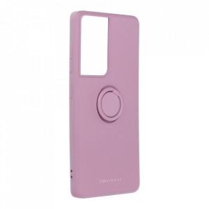 Гръб Roar Amber с държач - Samsung Galaxy S21 Ultra лилав