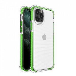 Гръб Spring Armor с цветна рамка - iPhone 11 Pro Max зелен