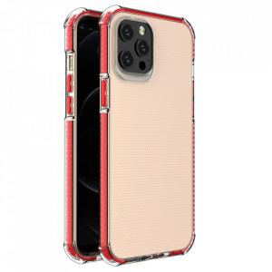 Гръб Spring Armor с цветна рамка - iPhone 12 Pro Max червен