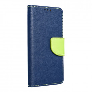 Калъф тип книга Fancy - Motorola Moto G9 Power тъмносин / лайм