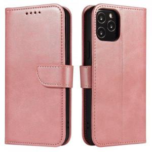 Калъф тип книга Magnet Elegant - Huawei P40 Lite E розов