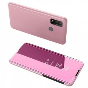 Огледален калъф тип книга Clear View - Huawei P Smart 2020 розов