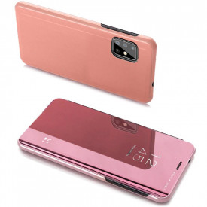 Огледален калъф тип книга Clear View - Samsung Galaxy A20s розов