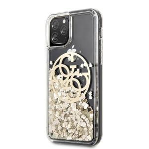 Оригинален гръб GUESS Circle Liquid Glitter GUHCN65LGGITDGO - iPhone 11 Pro Max златен