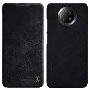 Оригинален кожен калъф тип книга Nillkin Qin - Xiaomi Redmi Note 9T 5G черен