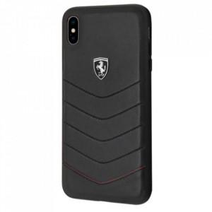 Оригинален твърд гръб Ferrari FEHQUHCI65BK - iPhone XS Max черен