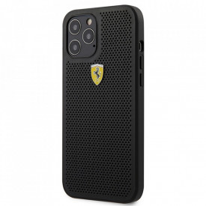 Оригинален твърд гръб Ferrari FEOGOHCP12LBK - iPhone 12 Pro Max черен
