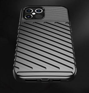 Релефен гръб Thunder - iPhone 12 Pro / iPhone 12 син