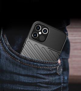 Релефен гръб Thunder - iPhone 12 Pro Max зелен