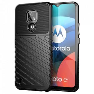 Релефен гръб Thunder - Motorola Moto E7 черен