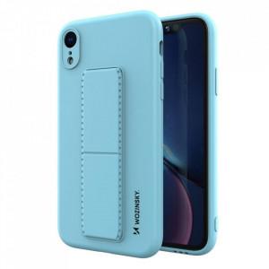 Силиконов гръб със стойка Wozinsky Kickstand - iPhone XR светлосин