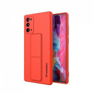 Силиконов гръб със стойка Wozinsky Kickstand - Samsung Galaxy Note 20 червен