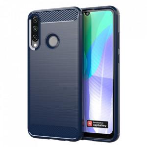 Силиконов гръб Carbon - Huawei Y6p син