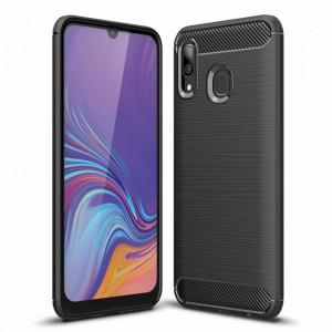 Силиконов гръб Carbon - Samsung Galaxy A30 черен