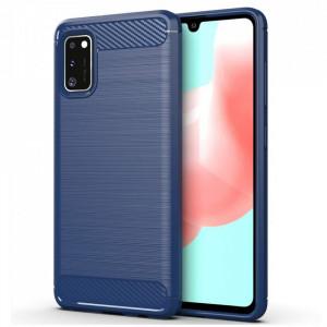 Силиконов гръб Carbon - Samsung Galaxy A41 син
