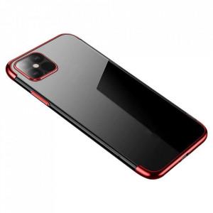 Силиконов гръб Clear Color с кант - Xiaomi Mi 10T Lite 5G червен