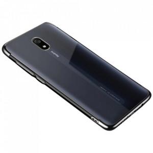 Силиконов гръб Clear Color с кант - Xiaomi Redmi 8A черен