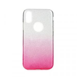 Силиконов гръб FORCELL Shining - iPhone 11 Pro Max прозрачен-розов