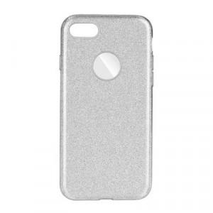 Силиконов гръб FORCELL Shining - iPhone 7 / 8 сребрист