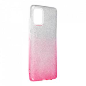 Силиконов гръб FORCELL Shining - Samsung Galaxy A52 5G / A52 LTE ( 4G ) сребрист / розов
