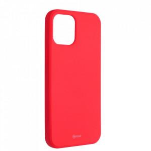 Силиконов гръб ROAR Colorful Jelly - iPhone 12 Pro Max прасковено розов