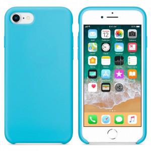 Силиконов гръб Soft Flexible Rubber - iPhone 7 / 8 / SE 2020 светлосин
