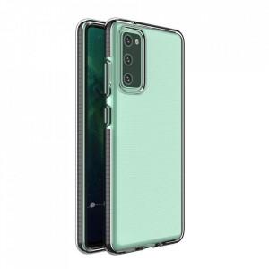 Силиконов гръб Spring с цветна рамка - Samsung A02S черен