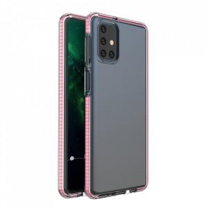 Силиконов гръб Spring с цветна рамка - Samsung Galaxy M51 светлорозов