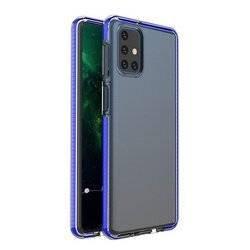 Силиконов гръб Spring с цветна рамка - Samsung Galaxy S21 Ultra тъмносин