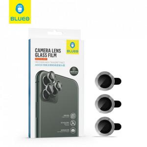 5D закален стъклен протектор за камера Mr. Monkey Armor с рамка - iPhone 11 / 12 / 12 Mini червен