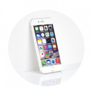 5D Full Glue закален стъклен протектор - iPhone 7 Plus / 8 Plus бял