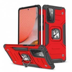 Wozinsky Релефен гръб Ring Armor със стойка - Samsung Galaxy A72/A72 5G червен