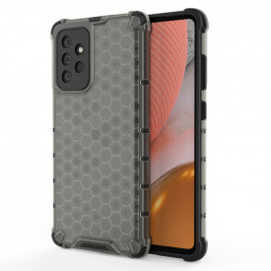 Гръб Honeycomb Armor със силиконов бъмпер - Samsung Galaxy A72/A72 5G черен