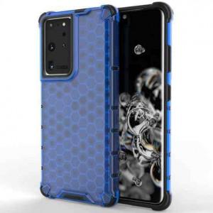 Гръб Honeycomb Armor със силиконов бъмпер - Samsung Galaxy S21 Ultra син