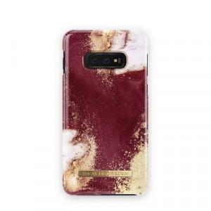 Гръб iDeal of Sweden - Samsung Galaxy S10e златист-бургунди-мрамор