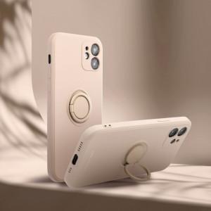 Гръб Roar Amber с държач - iPhone 11 Pro розов