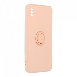 Гръб Roar Amber с държач - iPhone Xs Max розов