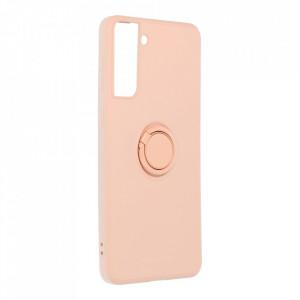 Гръб Roar Amber с държач - Samsung Galaxy S21 Plus розов