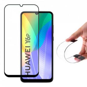 Гъвкав протектор от нано стъкло WOZINSKY пълно покритие с рамка - Huawei Y6p черен